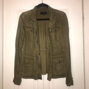 Max Jeans Olive Green Tencel Jacket